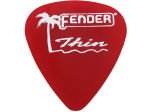 FENDER California Clears Candy Apple Red kostka gitarowa Thin